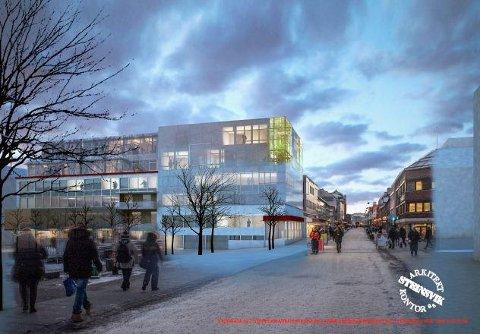 SLIK KAN DET BLI: Slik ønsker arkitektkontoret Steinsvik at Storgata 85 skal se ut i framtida. (Foto: Steinsvik arkitektkontor as)