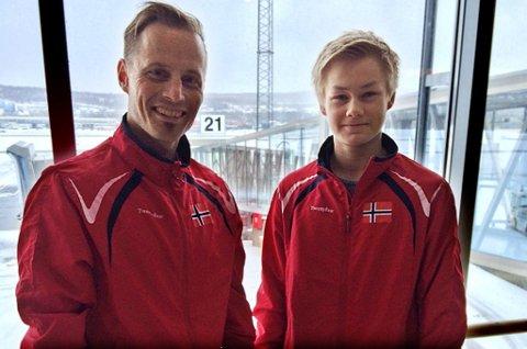 Paul Mathiassen (t.v.) nøyer seg med å være arrangør når NM i taekwon-do kommer til Tromsø. Lars Marius Elvenes (t.h.) er et av de lokale medaljehåpene.