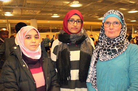 - IKKE VÅRT ISLAM: Sandra Maryam Moe (til høyre), Hind Jawad og Shima Shams er opptatt av å forebygge radikalisering. - De som vil reise til Syria ødelegger bildet av islam. Det de står for har ikke noe med islam å gjøre, mener Jawad.