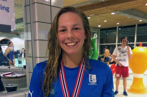 GULLJENTA: Ina Kvenshagen Gimse tok sitt tredje NM-gull lørdag.
