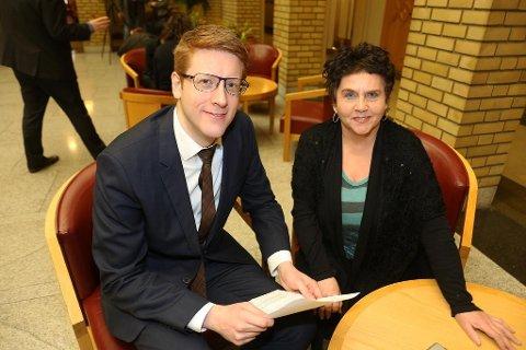 Martin Henriksen og Tove Karoline Knutsen gjennomslag for forslaget de kom med tidligere i år.