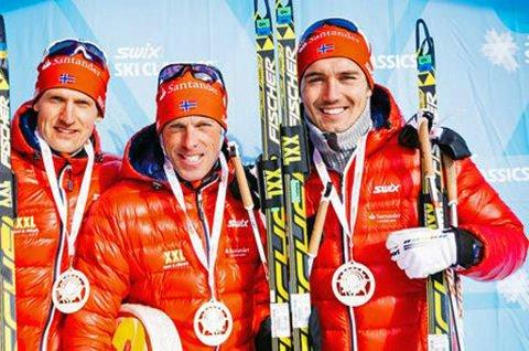 GOD START: Andreas Nygaard (t.h) ble nummer to på lagtempoen i Italia sammen med Anders Aukland (midten) og Jerry Ahrlin (t.v).
