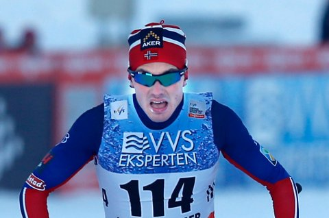 SUVEREN: Finn Hågen Krogh fra Alta var suverent best på verdenscupsprinten i Davos søndag.