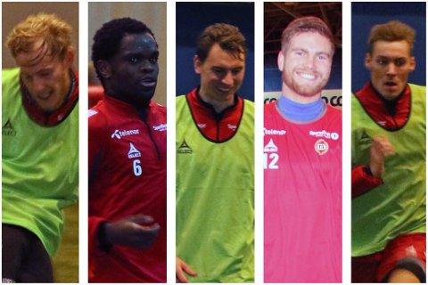 TILs NYKOMMERE: Fra venstre: Gjermund Åsen, Christian Landu Landu, Marcus Hansson, Gudmund T. Kongshavn og Magnar Ødegaard.