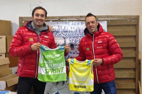 TILBAKE I TET: Lagkameratene Andreas Nygaard og Anders Aukland tok begge tilbake den grønne og gule ledertrøya i langløpsverdenscupen etter søndagens Marcialonga.