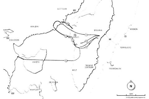 NY VEG: Prioriteringsrapporten for ny Tverrforbindelse og Kvaløyaforbindelse anbefaler å fortsette utredningen av tilsammen syv alternativer for ny veg.