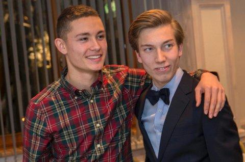 Phillip Sjøen (t.v.) og Johann André Forfang fikk ikke muligheten til å kjempe om NM-gull i helga. Søndag reiser duoen til Kasakhstan på jakt etter edelt metall i junior-VM.