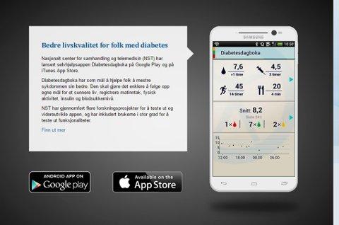 LETTERE: Formålet med appen er å gjøre det enklere for mennesker med diabetes å monitorere egne helsedata.  Foto: Diabetesdagboka