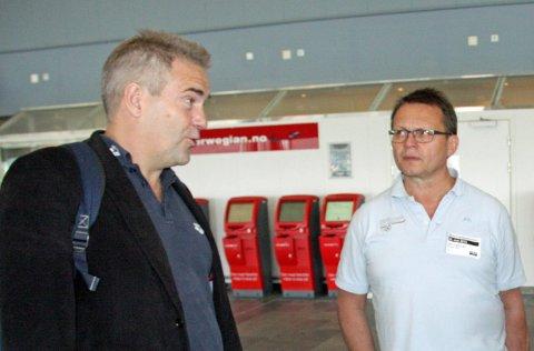 Knut Bjørklund (t.h) kommer til å støtte Per Rune Eknes i kampen om å bli idrettspresident.