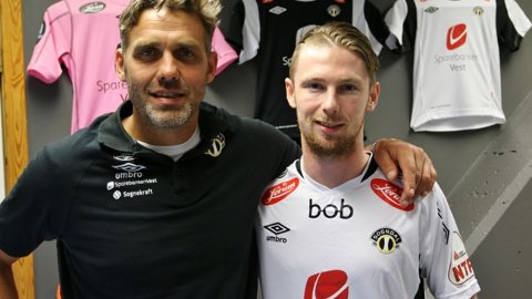 KLAR: Håvard Flo og Thomas Drage.