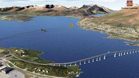 VEDTATT: Tromsø kommune går inn for ny bru over til Selnes. Det bestemte kommunestyret onsdag.