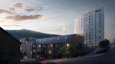 BYGGESTART: Etter at tomtesalget er unnagjort kan Thon Eiendom starte utbygginga av Solseilet ved Rektor Steens gate og Elvegata. Blokka er første byggetrinn.
