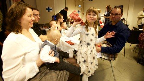 Tyvstartet: Anita, Are, Venla og Esa Antti Kanniainen.