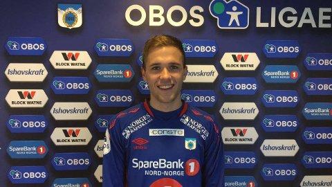 BANENS BESTE SPILLER: Nordlys mener Lasse Nilsen var banens beste spiller i sin TUIL-debut. Det lokker frem smilet hos 22-åringen.