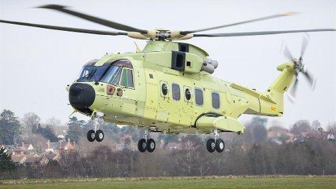 Det nye redningshelikopteretAW-10.