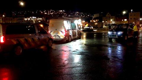 Her hadde Statens vegvesen kontroll, og de fant feil hos nesten alle som ble stoppet. Foto: Utekontrollen, Statens vegvesen