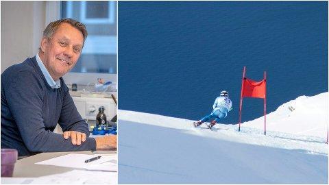 VM-ENTUSIAST: Gunnar Wilhelmsen, Aps ordførerkandidat i Tromsø, er full av begeistring for Narviks kamp for å få Alpin-VM i 2027 - en kamp som nå fortsetter på internasjonalt nivå.