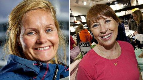 BLANT DE FÅ: Åsta Lassesen i Hurtigruten og butikkeier Mona Abelsen i Tromsø er begge blant Troms' 30 best betalte kvinner i 2017.