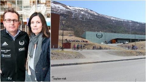 SKUFFELSE: Reinen-leder Tore Johnsen og anleggsansvarlig Heidi Johnsen legger ikke skjul på at skuffelsen etter at Tromsø kommune i dag avslo søknaden om festetomt for ny fotballhall i nærheten av bydelens skole.