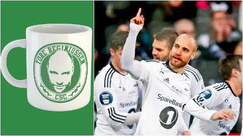 """HYLLES: Kun et halvt døgn etter at Tore Reginiussen berget videre deltakelse i Europa League for den skotske storklubben Celtic, så finnes det allerede """"Tore Reginiussen""""-kopper å få kjøpt for Celtic-supportere."""