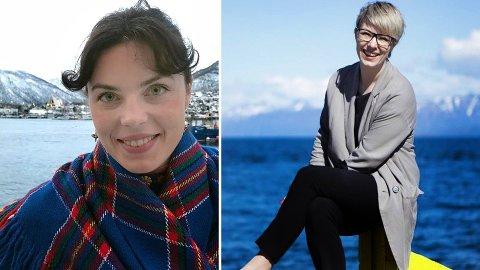 TRADISJON: Både Karoline Trollvik (til venstre), festivalsjef for Riddu Riddu, og Maria Utsi, direktør for Festspillene i Nord-Norge, får etterlønn når de er ferdig i stillingene sine. - Festspillene har gitt direktørene etterlønn så godt som alltid, i alle fall hele 2000-tallet, sier Utsi.