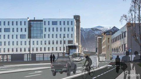 NY VEI: Slik var Stakkevollveien presentert i fjor vinter. Nå har arbeidet startet på nytt. Foto: Asplan Viak
