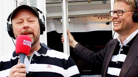 Radio Norge, her representert ved profilene Geir Schau og Øyvind Loven, opplever katastrofale lyttertall. Kanalen er nå mindre enn NRK mP3 og nærmer seg Radio Vinyl i lyttertall. Foto: Radio Norge