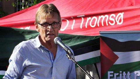 PALESTINA-VENN: Den profilerte Tromsø-legen Mads Gilbert har vært en fremtredende Palestina-aktivist i en årrekke. Nå er tilbake i Gaza i kjølvannet av en ny opptrapping av konflikten.
