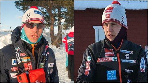 KRITISK: Langrennssjef Vidar Løfshus (til venstre) holder døren på gløtt for at Erik Valnes får gå verdenscup i Finland neste helg som en siste sjanse til VM-plass. Samtidig er Løfshus kritisk til at Valnes valgte å gå 15 kilometeren i NM i går.