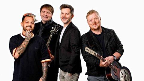 KOMMER TIL TROMSØ: Alejandro Fuentes (til venstre), Askil Holm, Espen Lind og Kurt Nilsen kommer til Tromsø 30. august for å spille på The Edge.
