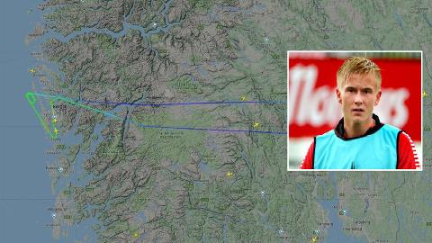 FLYPROBLEMATIKK: Flyet sirklet flere ganger over Flesland før piloten tok det tilbake til Gardemoen for å lande med hjelp fra nødbremser. Brian Stangnes Kjeldsberg forteller at flere av passasjerene opplevde hendelsen som skremmende.