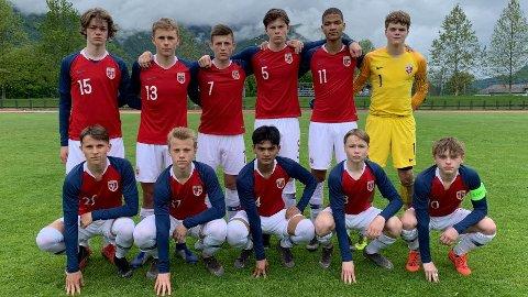 Norge G15 før landskamp mot USA i 2019.