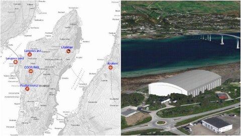 SER VESTOVER: Etter å ha vurdert flere alternativer, ønsker prosjektgruppen å se nærmere på et alternativ vest på Tromsøya for den ønskede storhallen for fotball.