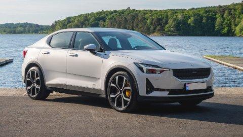 VIL SYNKE: Prisen for å produsere elbiler – her representert med Polestar 2 – er ventet å synke betraktelig i årene som kommer. Det kommer til å få mye å si for salget.