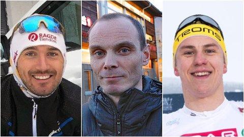 GÅR LIKEVEL: De tre store langrennsprofilene Andreas Nygaard, Toralf Heimdal (nåværende ordfører i Bardu) og Erik Valnes skal likevel gå 5-milstraseen i det avlyste Reistadløpet.
