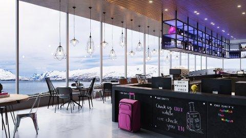 TOPPUTSIKT:  Det planlegges restaurant i  toppetasjen med vid utsikt fra det 11 etasjer høye hotellbygget på Workinntunet.