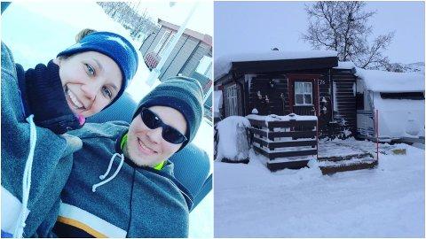 FORTSATT UVISSHET: Mia Johnsen og Neander Jakobsen er blant de mange tromsværingene som har hatt campingvogn og hytter isolert bak en stengt grense til Finland i to måneder.