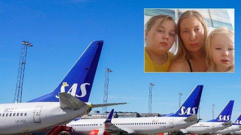 FÅR REFUSJON: Første virkedag etter at Nettavisen fortalte historien om Irina Johnsens frustrerende forsøk på å få refundert SAS-billetter, fikk hun plutselig tilbake pengene SAS skyldte henne. Foto: Privat/SAS
