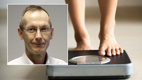 PROFESSOR: Jøran Hjelmesæth er professor ved Universitet i Oslo og leder ved Senter for sykelig overvekt ved Sykehuset i Vestfold. Foto: ©Sykehuset i Vestfold