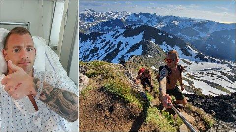 UHELDIG: Eirik Strand Bakke endte opp på sykehuset etter fjellturen på Senja.