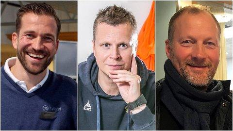 KLARE MENINGER: Miika Koppinen, Morten Pedersen og Roger Lange har alle mange år bak seg som TIL-spillere og i jobber og verv for klubben etter karrieren.