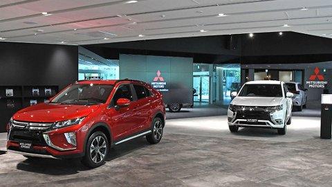 SUKSESS: Mitsubishi har hatt stor suksess i Norge med sine ladbare SUV Outlander. Foto: Mitsubishi