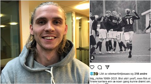 SLUTT: Øystein Richardsen takket av etter 22 år i Skarp med en følelsesladet Instagram-melding.