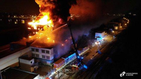 BRANN: Det var natt til onsdag at det brøt ut en storbrann i et datasenter i Strasbourg som tilhører OVHCloud.