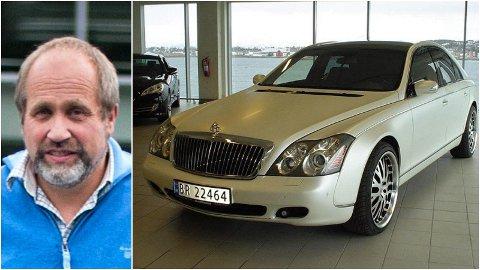 ROLIG: Per Molund har blitt tilbudt forskjellige byttehandler for sin Maybach 2005-modell, men ønsker cash for å selge luksusbilen.