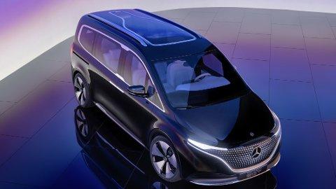 Mercedes gir oss en forsmak på sin kommende og elektriske flerbruksbil. kalt EQT. Den skal komme på markedet til neste år.