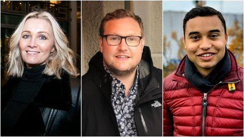 SPLITTET: De lokale Høyre-toppene Anne Berit Figenschau, Erlend Svardal Bøe og Sebastian Henriksen splittes i synet på norsk pengespill-politikk foran Høyres landsmøte, hvor det bygger opp til en thriller om nettopp dette spørsmålet.