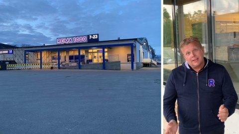 UTSATT: Åpningen av Bjørn Åge Berglands Rema-butikk blir utsatt til skolestart i august.