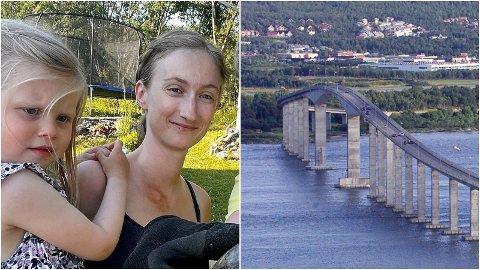 FRUSTRERT: Yvonne Jensen må ta fri for å holde datteren Emma Sofie hjemme fra barnehagen når Kvaløya-brua stenges i neste uke.