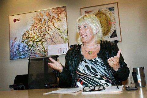 VAR FYLKESRÅD: Tidligere fylkesråd for samferdsel Kari-Anne Opsal (Ap) var entusiastisk da Troms fylkestrafikk ble startet i 2011. Snart fire år senere har entusiasmen dalt. Foto: Torgrim Rath Olsen
